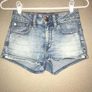 Size 00 Women's American Eagle Blue Jean Shorts